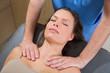 myofascial therapy on beautiful woman shoulders