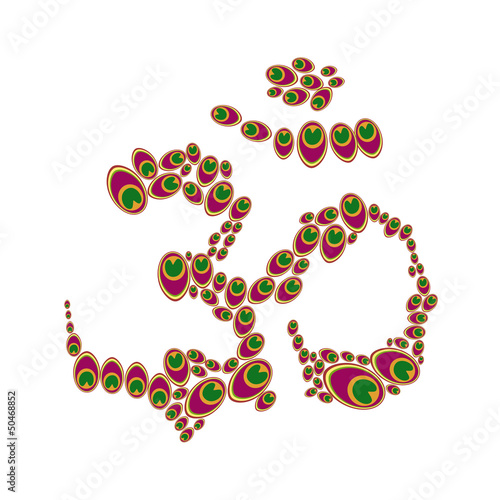 Aum with colourful elements