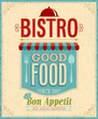 Vintage Bistro Poster. Vector illustration.