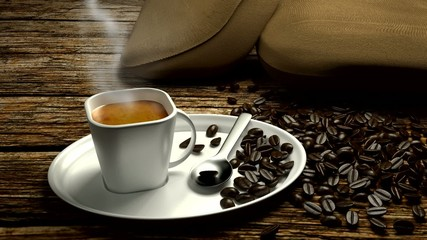 espresso with smoke