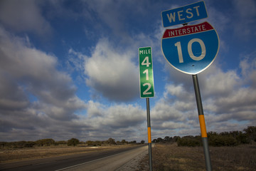 Interstate 10 West in Texas
