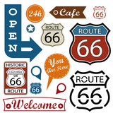 Fototapety Route 66 Signs. Symbol and Sticker