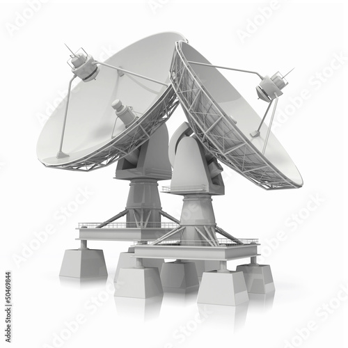 Satellite dish.  Communiation.