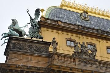 Detail des Nationaltheaters in Prag