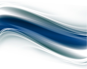 Awesome abstract blue and white waves