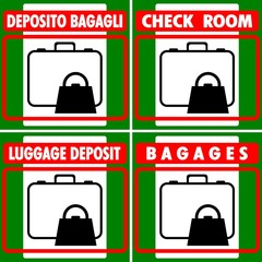 DEPOSITO BAGAGLI LUGGAGES DEPOSIT BAGAGES