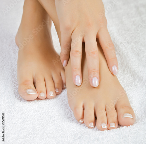 canvas print picture beautiful female feet