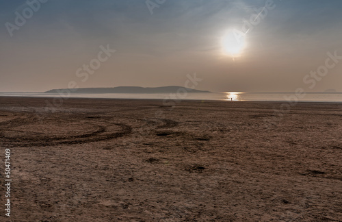 Weston Super Mare Beach looking towards Brean Down