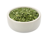 Dried Cilantro in a Bowl isolated