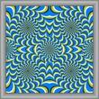 Optical illusion circle squares canvas [cx]