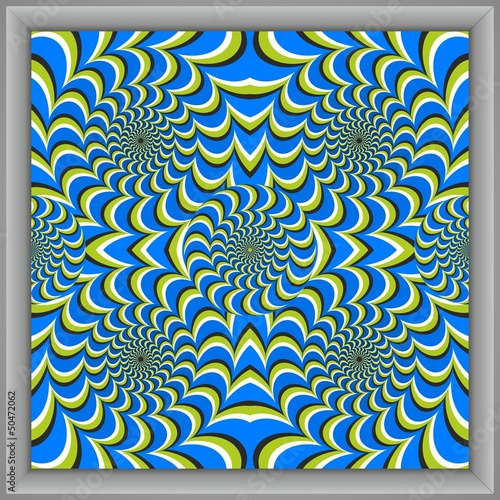 Optical illusion circle squares canvas [cx]