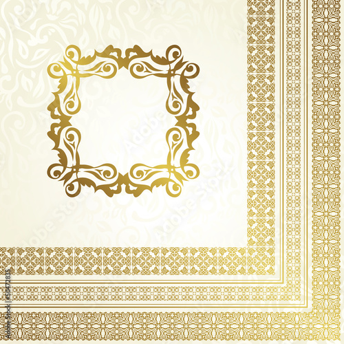 Vintage seamless background with frame