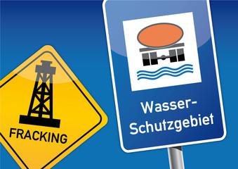 Fracking, Grundwasser, Schild, Trinkwasser, Interessenkonflikt