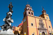 Basilica of Guanajuato decorated for the visit of Pope