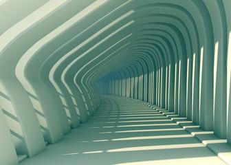 Diseño exterior con arcos