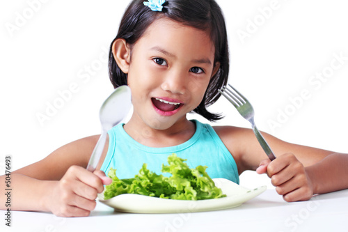 Girl With Vegetable