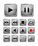 The grey audio buttons