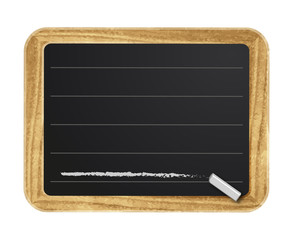 Tafel Hinweisschild mit Kreide Vektor