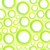 Seamless organic pattern with green circles. Eps10 poster