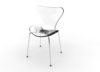Transparent Plastic Modern Chair
