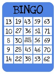 Bingo game card