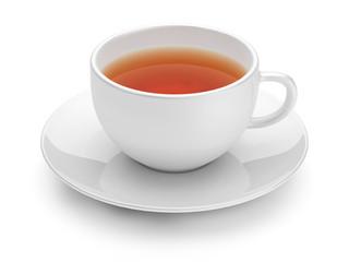 Teacup isolated