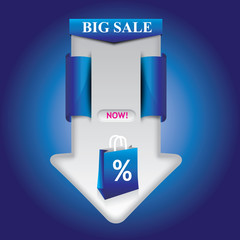 Big Sale Arrow Template Blue