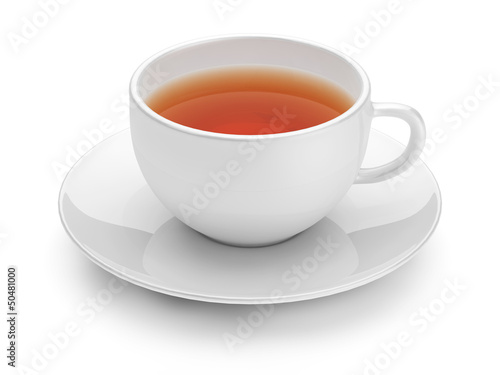Teacup isolated