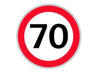 Verkehrszeichen 70 km/h