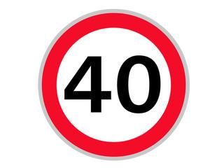 Verkehrszeichen 40 km/h