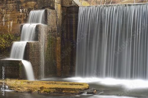 Foto op Canvas Dam cascata e cascatelle