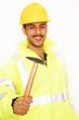 Mann mit Bauhammer