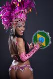 Fototapety Brazilian Samba Dancer