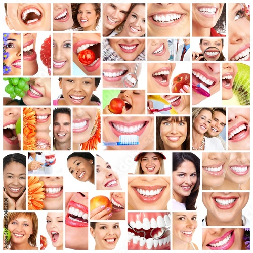 People smile collage.