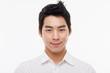 Young Asian man close up shot.