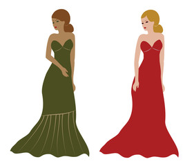 Long elegant dresses