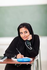 cute Arabic schoolgirl