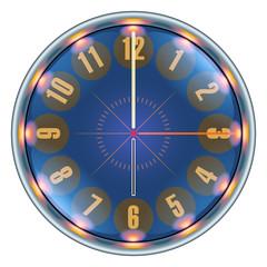 Futuristic Techno Clock