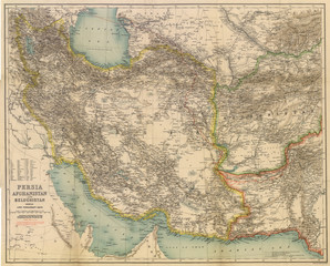 Middle East vintage map