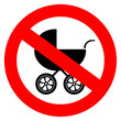 No pram vector sign
