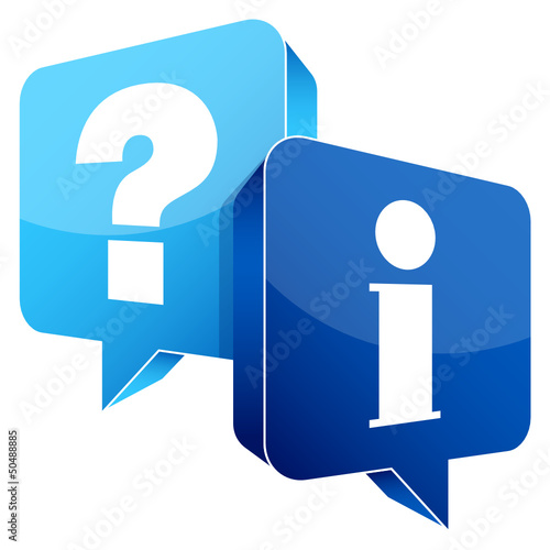 Speech Bubbles Question Light Blue & Information Blue
