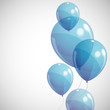 background with blue balloons
