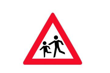 Verkehrszeichen: Kinder