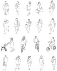 人々の線画