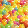 background with multicolored transparent balloons