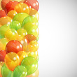 abstract background with multicolored transparent balloons