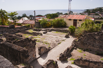 The ruins of Saint Pierre in Martinique