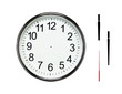 Blank clock isolated on white with clipping paths