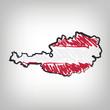 Österreich Karte Zeichnung