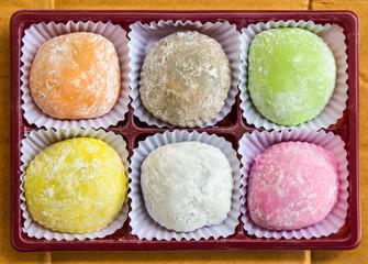 Mochi dessert.
